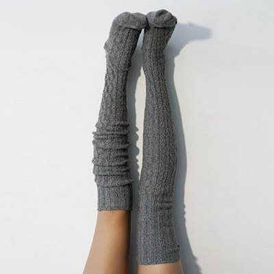 Autumn And Winter Women Cable Knit Extra Long Boot Socking Over Knee Thigh Warm