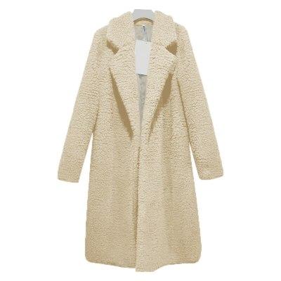 Women's Plush Coat Plus Size Lambwool Trench Coats