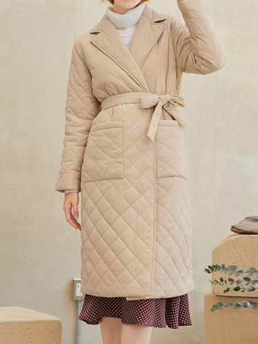 Winter Coat Women Style Long Straight Casual Warm Long Outerwear
