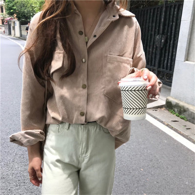 Warm Loose Covered-Buttons Stylish All-Match Casual Women Coats