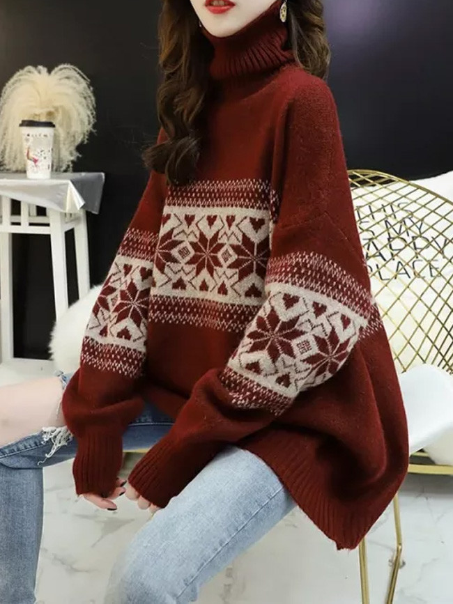 Winter Turtleneck Bottoming Shirt Thick Warm Pullover Women Sweaters