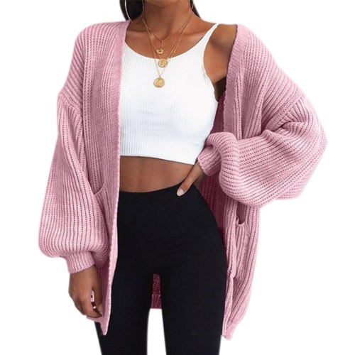 Loose Knitted Cardigan Sweater For Women Stitch Autumn Winter Coat