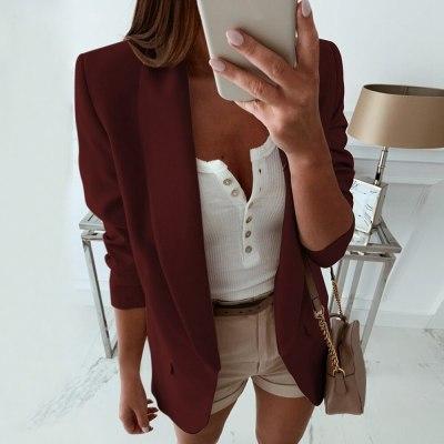 Women Blazer Casual Blazers Jacket Coat