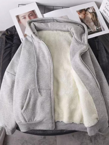 Women Winter Coat Causal Warm Hooded Coat Outerwear
