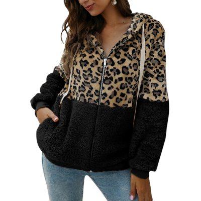 Autumn Warm Jacket Outwear Casual Fashion Leopard Tops Coat