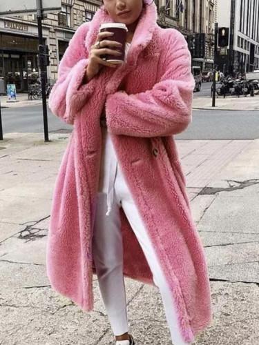 Winter Coat Woman Warm Plush Teddy Coat Outwear