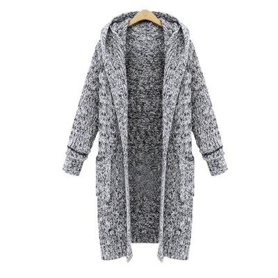 Fall Fashion Long Knit Sweater Women Large Coat Casual Winter Sweaters