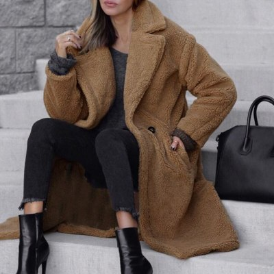 Winter Coat Woman Warm Plush Teddy Coat Outwear