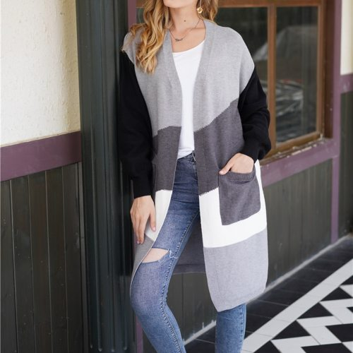 New Loose Knitting Sweater Long Sleeves  Coat Casual Cardigans Ladies
