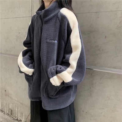 Women's Clothing spring fall winter new fashion patchwork coats thick jackets