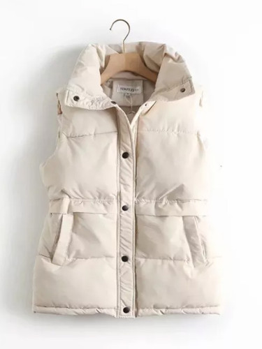 Autumn Winter Vest Jacket Cotton Padded Women's Windproof Warm