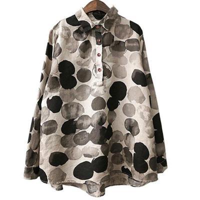 Long Sleeve Cotton Linen Button Casual Shirts