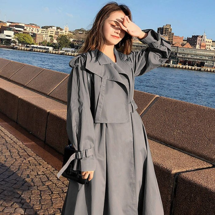 Casual Trench Coat Outwear Adjustable Waist Chic Epaulet Trench