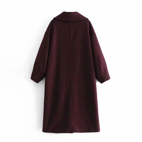 Winter Women Coat Oversized Long Elegant Casual windbreaker Outerwear