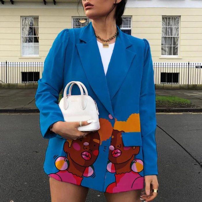 Sexy V Neck Velvet Small Suit Jacket Autumn New Long Sleeves Coat