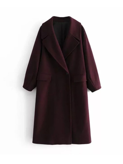 Winter Women Coat Oversized Long Elegant Casual windbreaker Outerwear