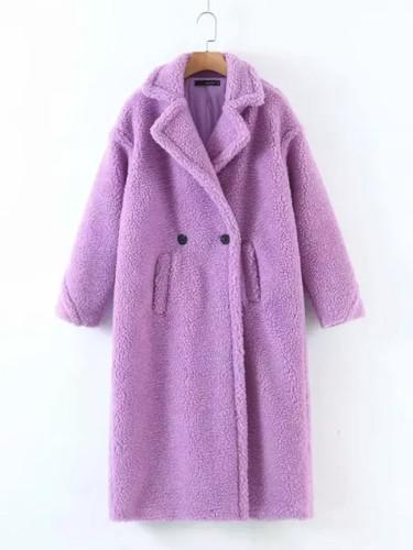 Teddy Coat Oversized Long windbreaker Outerwear  Winter Jackets