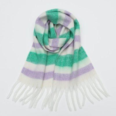 Women Plaid Scarf Winter Shawls Cashmere Thick Wraps