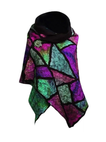 Warm Casual Printing Scarf Fashion Retro Multi-purpose Shawl Button Scarf