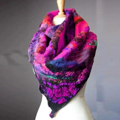 Christmas Shawls Colorful Print Warm Scarf