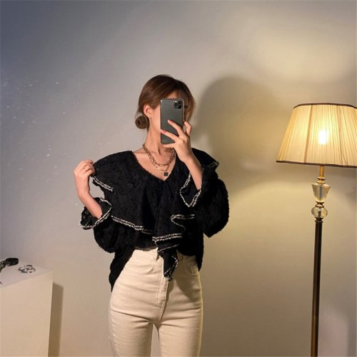 Women Casual Blouses Loose Irregular Shirts