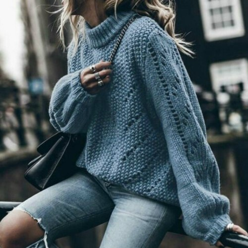Hollow Out Women's Sweaters Autumn Winter New Knitted Pullovers