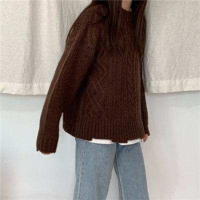 Lazy Retro Pullovers Brief Soft Loose Casual Knitted Sweaters