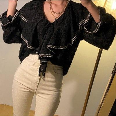 Women Casual Blouses Loose Irregular Shirts
