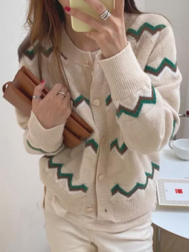 Knitted Casual Loose Autumn Cardigans Feminine Tops Soft Sweet Sweaters