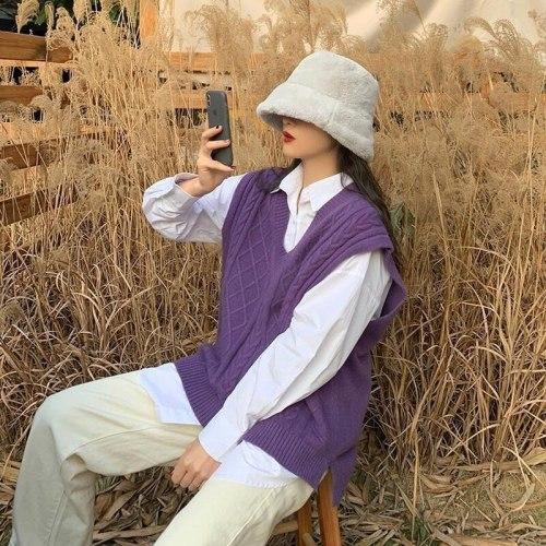 Knitted Vests Sweater Women Classic Retro Stylish V-neck