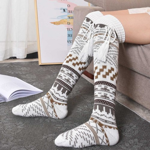 Christmas Socks Fashion Ladies Cotton Middle Tube Socks Calf Socks