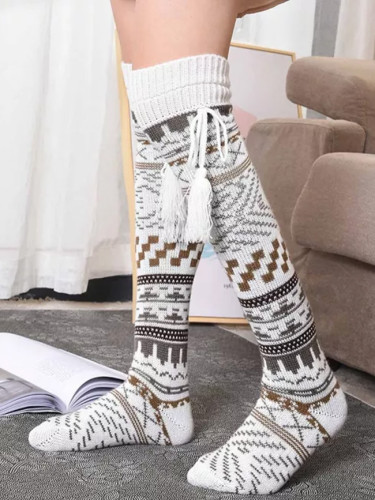 Christmas Socks Fashion Ladies Cotton Middle Tube Socks Calf Socks