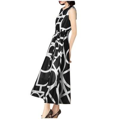 Women Print Long Dress Bohemian Sundress Vestidos