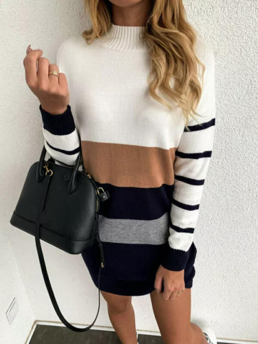 Women Fall Winter Casual Sweater Dress
