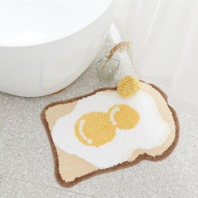 Egg Bathroom Rug Funny Entrance Carpet Area Rugs Kitchen Rug 70x58cm