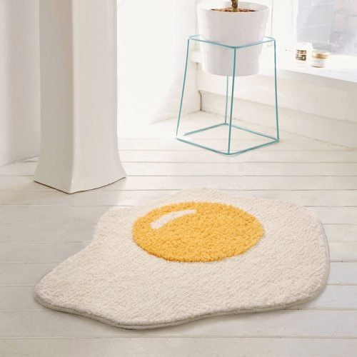 Egg Bathroom Rug Funny Entrance Carpet Area Rugs Kitchen Rug 70x58cm