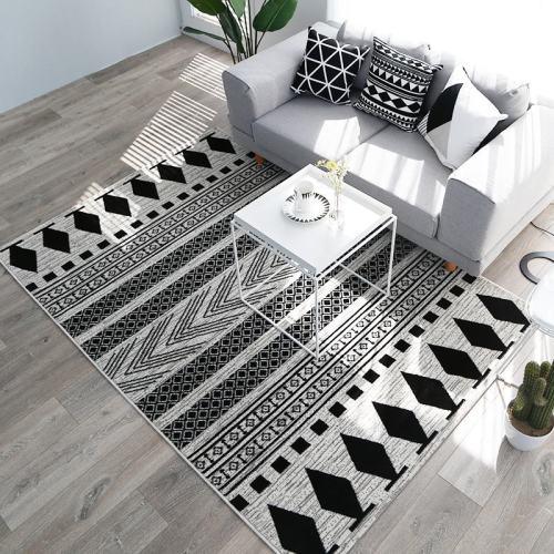 Non-slip Door Mat European Modern Rectangle Carpet Big Area Rug