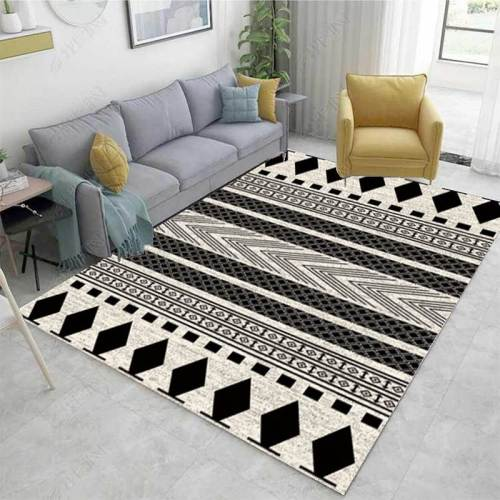 Non-slip Door Mat European Modern Rectangle Carpet Big Area Rug