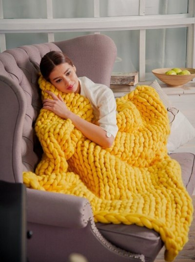 Knitted Blanket Adult Plush Sofa Sherpa Blanket Weighted Blanket Kids