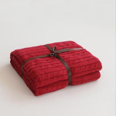 Solid Color Blankets Beds Cover Soft Bedspread Bedding Knitted Blanket