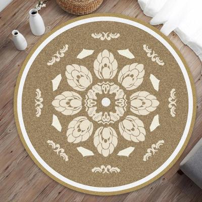 Home Decorative Round Carpet Fashion Area Rugs Bedroom Anti-slip Floor Mat 80CM