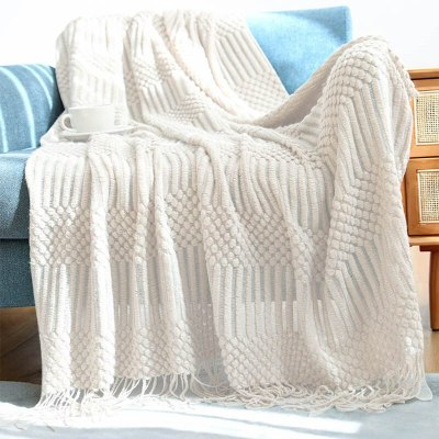 Nordic Sofa Throw Blankets Knitted for Bed Plaid on the Sofa Casua Blankets
