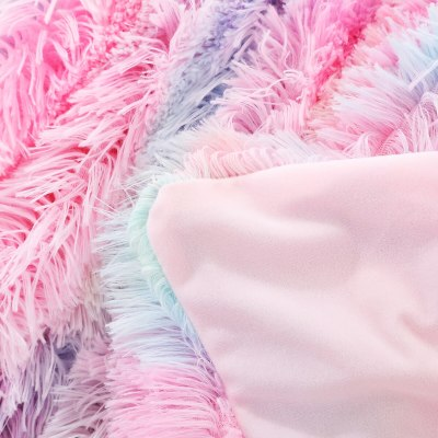 Tie Dye Blankets Bedding Winter Fur Throw Blanket Sleep Thick Blankets