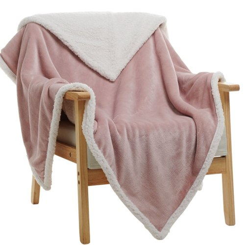 Winter Wool  Soft Sheep Velvet Flannel Plush Throw Blanket