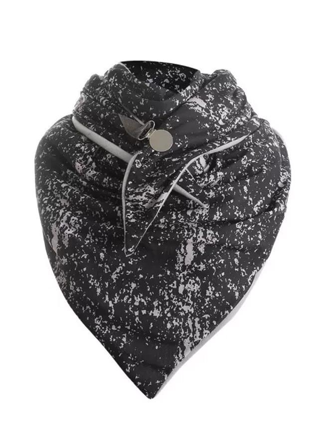 Winter Printing Button Soft Wrap Casual Warm Scarves Shawls Bib