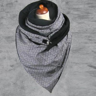 Soild Dot Printing Button Soft Wrap Casual Warm Scarves Shawls
