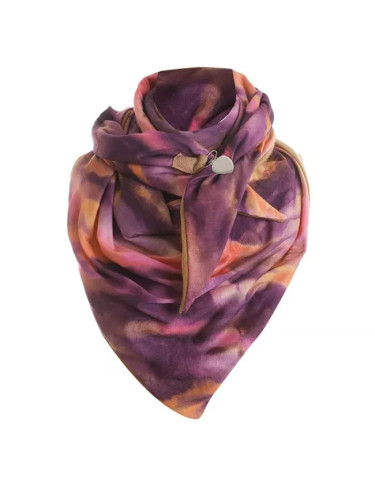 Fashion Winter Women Printing Button Soft Wrap Casual Warm Scarves Shawls