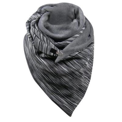 Women Winter  Warm print  Button Wrap Casual Warm Scarf