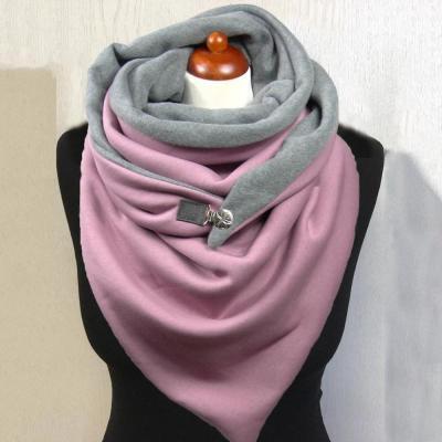 Women Fashion Soild Star Printing Button Soft Wrap Casual Warm Scarves Shawls
