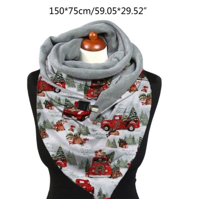 Winter Thicken Warm Large Scarf Christmas Santa